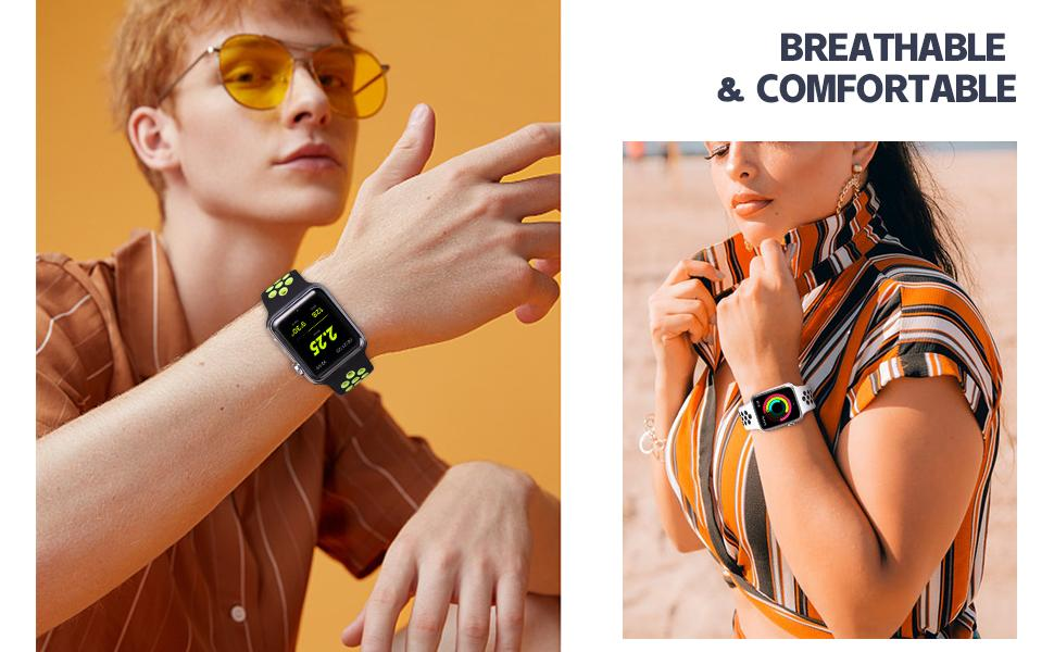 Compatible for iwatch bands series 6/5/4/3/2/1 SE