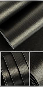 Bronze Black Brushed Stainless Steel Contact Paper