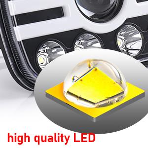 5x7 7x6 inch Rectangle LED Headlights