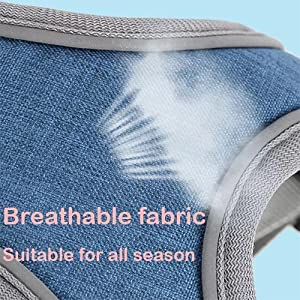dog harness breathable fabric
