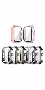 8 PACK Tempered Glass Screen Protector For Apple Watch Series