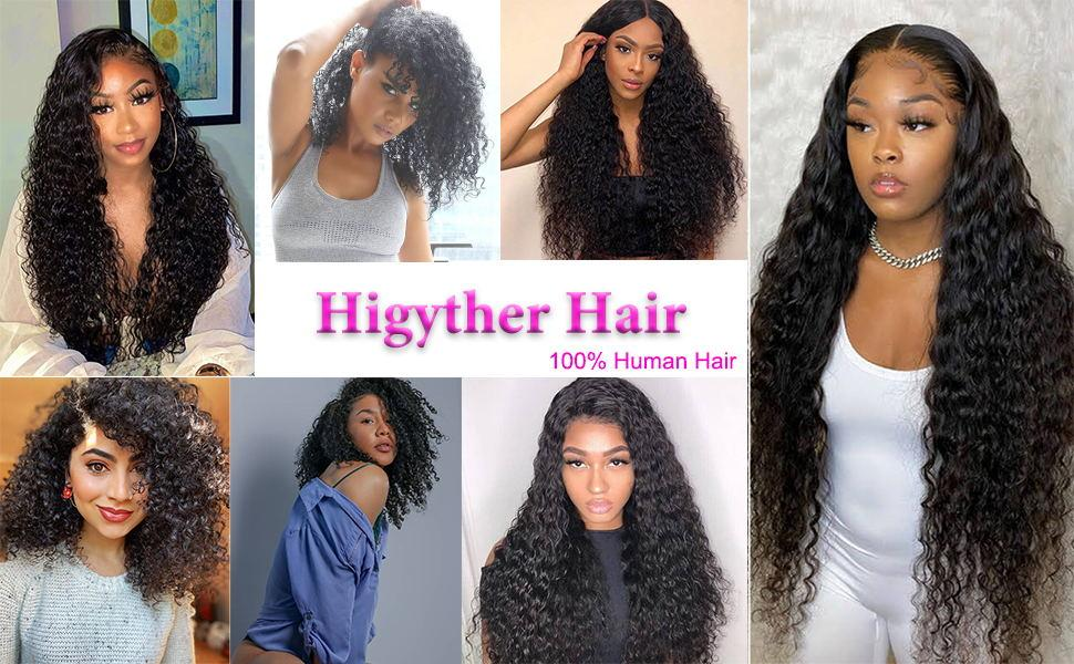 water wave lace front wigs human hair