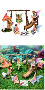 miniature fairy garden fairies toys accessories swing slide indoor outdoor whimsy