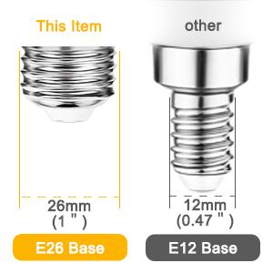 Bathroom Mirror Light Bulbs E26 Base