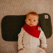 Large cotton burp cloths for newborns, babies and infants
