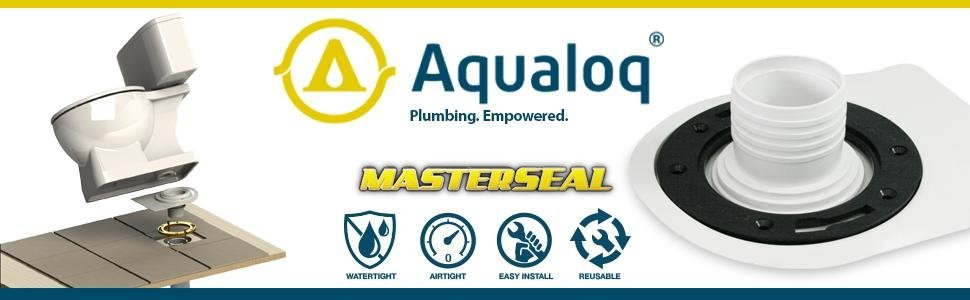 wax seal toilet wax free aqualoq no wax ring gasket flange toilet bowl masterseal master seal
