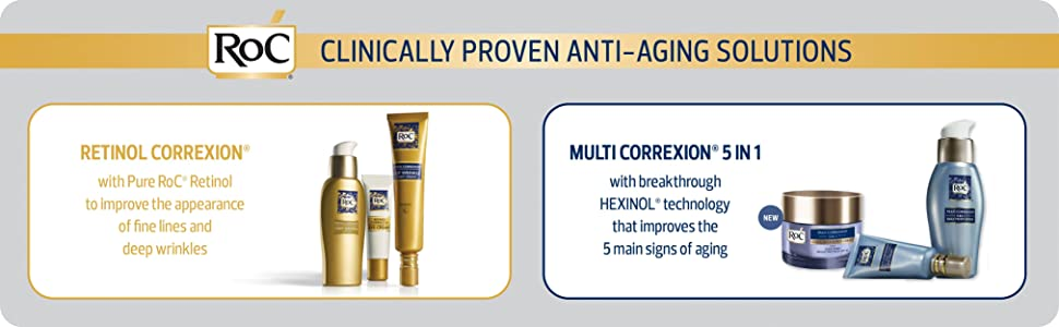 Clinically proven anti-aging solutions