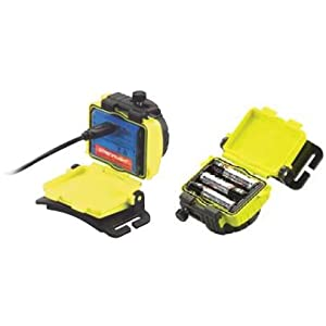 Streamlight Double Clutch USB Head Lamp, Yellow, Recharger and Battery Case Image
