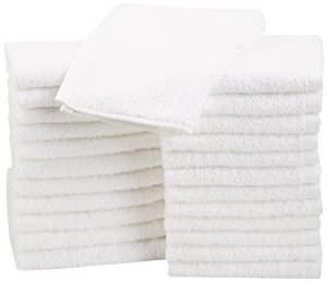 AmazonBasics Cotton Washcloths - 24-Pack