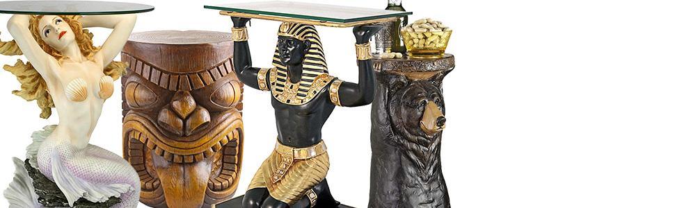 design toscano sculptural tables, design toscano furniture