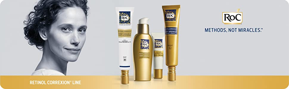 RoC RETINOL CORREXION - Deep Wrinkle Night Cream for Anti-Aging - Banner