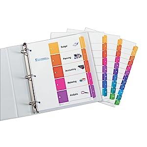 Professional, ready, index, dividers, organization, customizable, free, avery.com, tab, print