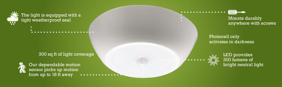 shower led light, ceiling lighting, battery ceiling light, motion sensing light indoor, porch light