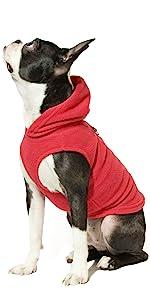 gooby fleece vest dog hoodie