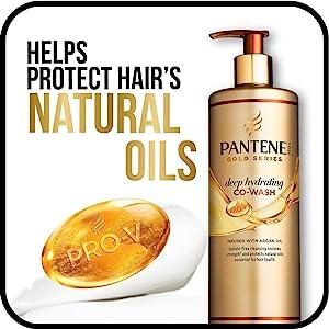 Pantene, pantene pro-v, gold series, co-wash, shampoo, hair products, natural oils, hydrating