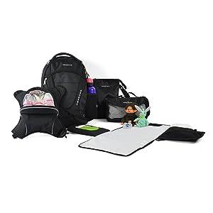 oslo diaper backpack, obersee backpack, diaper backpack, diaper bag