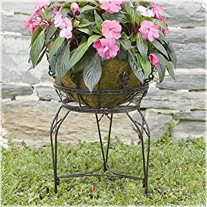 CobraCo Bronze Finish Scroll Braided Plant Stand