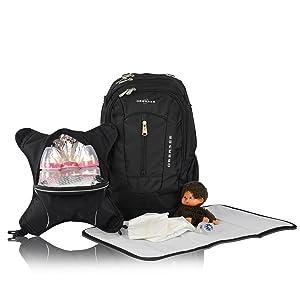 bern diaper backpack, diaper bag, diaper backpack, changing bag