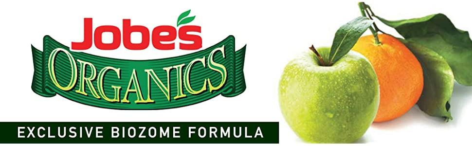 Jobe's Organic Fruit Tree Citrus Fertilizer Granular Nuts Biozome Gardening