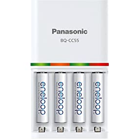 Panasonic, eneloop, quick charger, AAA, AA, battery, batteries, Duracell, Energizer, Amzon Basics