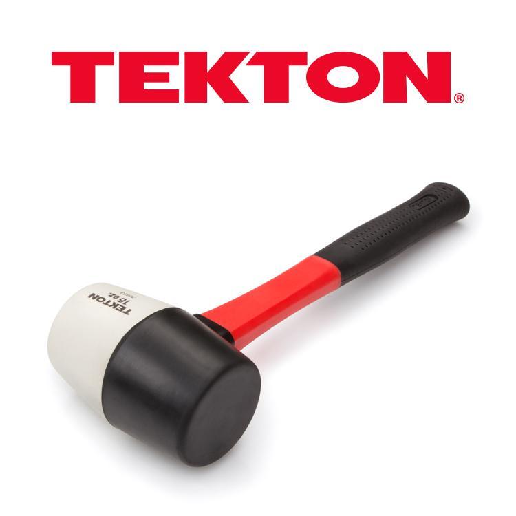 TEKTON 30603 Fiberglass Handle Rubber Mallet 16-Ounce Black 1