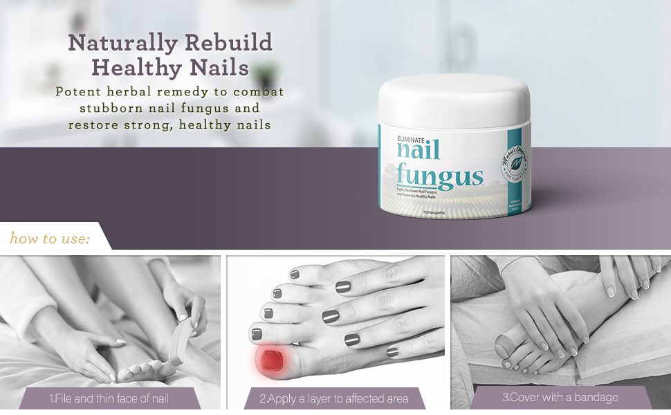 All Natural Nail Fungus Healing Cream Herbal Remedy Healthy Nail Ointment Essential Oil Blend