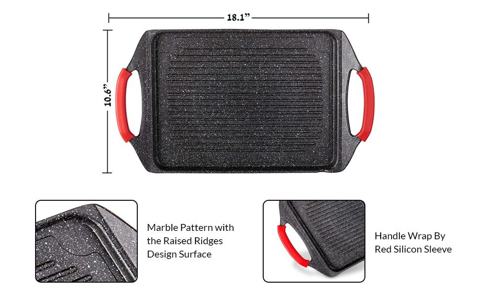 Aluminum Rectangular Grill Pan