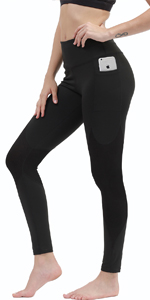 Ribbed Yoga Leggings Side Pockets