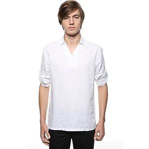 Men's Popover white shirt