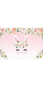 Pink Bunny Backdrop