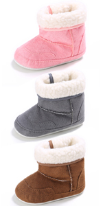 Baby's Girl's Boy's Winter Warm Snow Boots Soft Non-Slip Flat High-Top Cotton Shoes