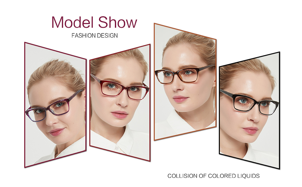 Vogue readers women's stylish reading glasses purple red brown black HD RX-able reader