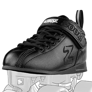 roller skate classic rink style mid cut sneaker boot speed strap black leather derby comfortable boy
