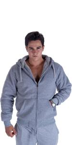 light grey mens sherpa lined hoodie