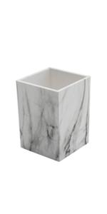 boobu pen cup marble white dispenser desk organizer desktop accessories