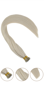 nano ring hair extensions human hair fusion hair extensions