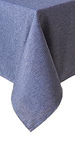 blue tablecloth, denim tablecloth, blue denim tablecloth, blue cloth, blue round tablecloth