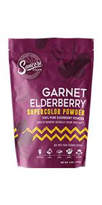 Suncore Foods Garnet Elderberry Supercolor Powder