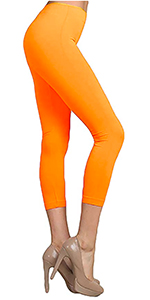 capri neon seamless leggings legging bright fluorescent summer 80s