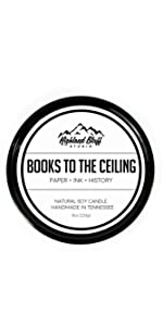 Books to the Ceiling Soy Candle