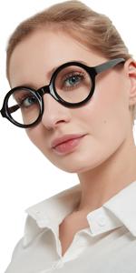 Round reading glasses women nerd readers