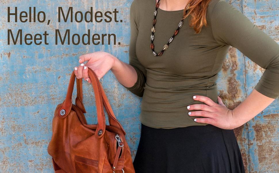 kosher casual tops shirts undershirt women girls layer
