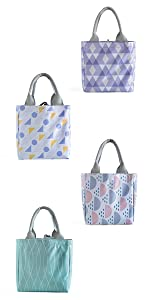 Oyachic Cute Thermal Lunch Bag Insulated Tote Leakproof Zipper Bag with Foil Liner for Office