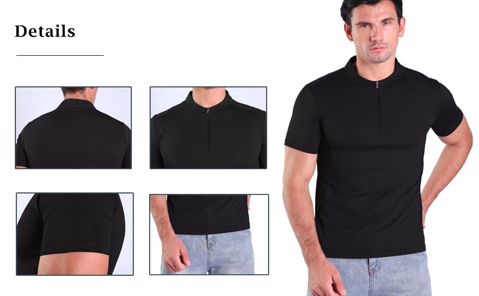 crew neck henley shirt