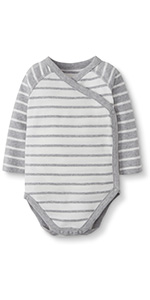 Baby/Toddler Organic Cotton Long Sleeve Side Snap Bodysuit