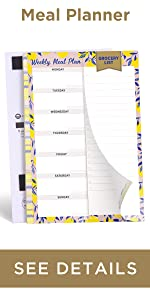meal planning pad 6x9 for fridge