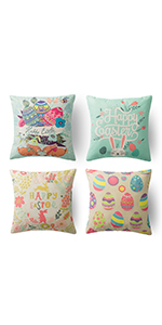 set of easter pillow covers 4 easter pillow covers 18x18 spring decorative pillows set of 4