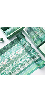 Green Washi Tape Set