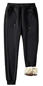 plus size unisex sherpa jogger pants