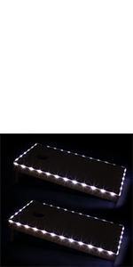 cornhole edge lights